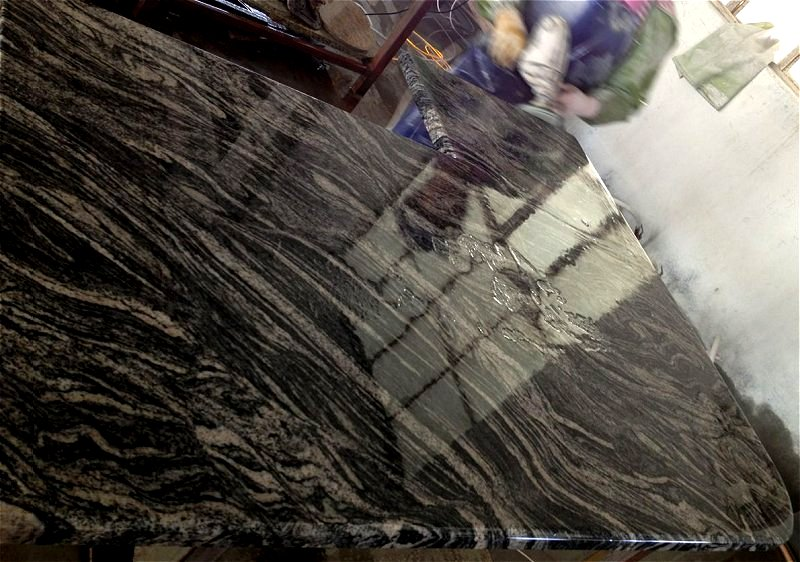 China Granite Color : GB044 Wave Panning Sample, Arenea Negro Ondas
